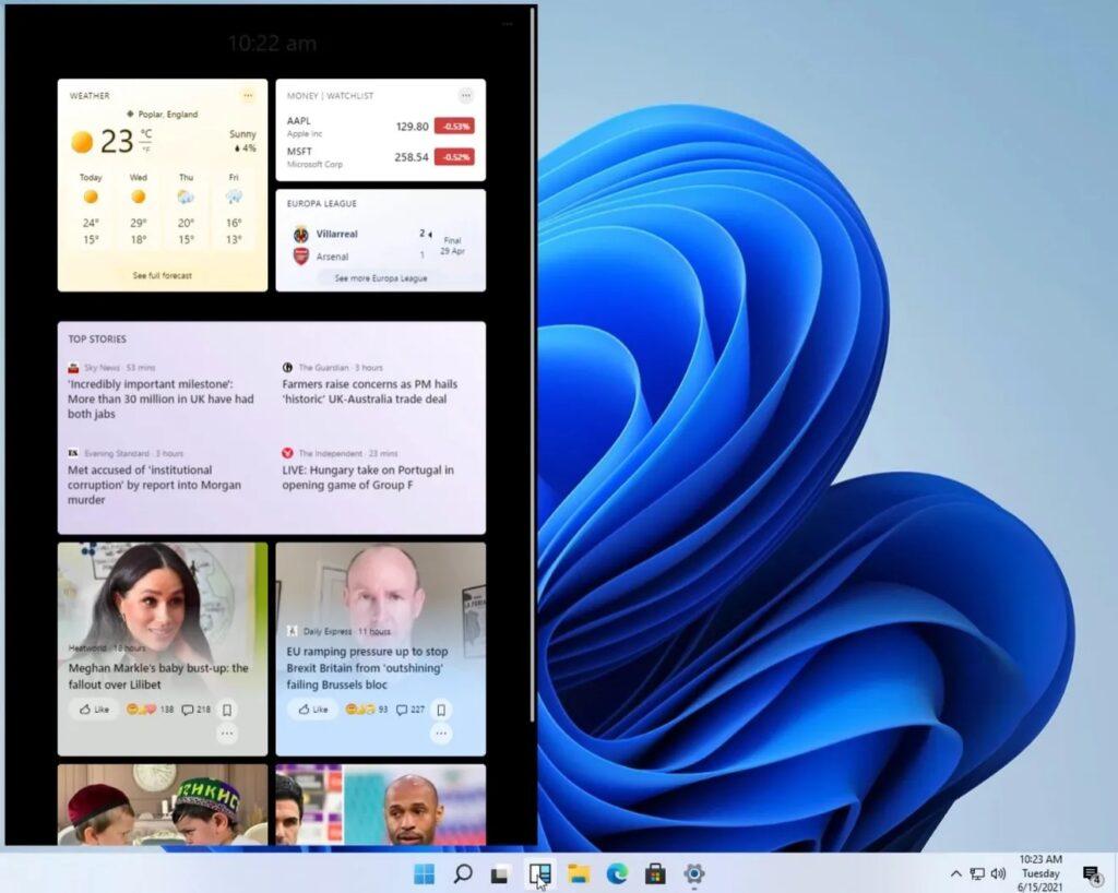 ویجت های ویندوز 11