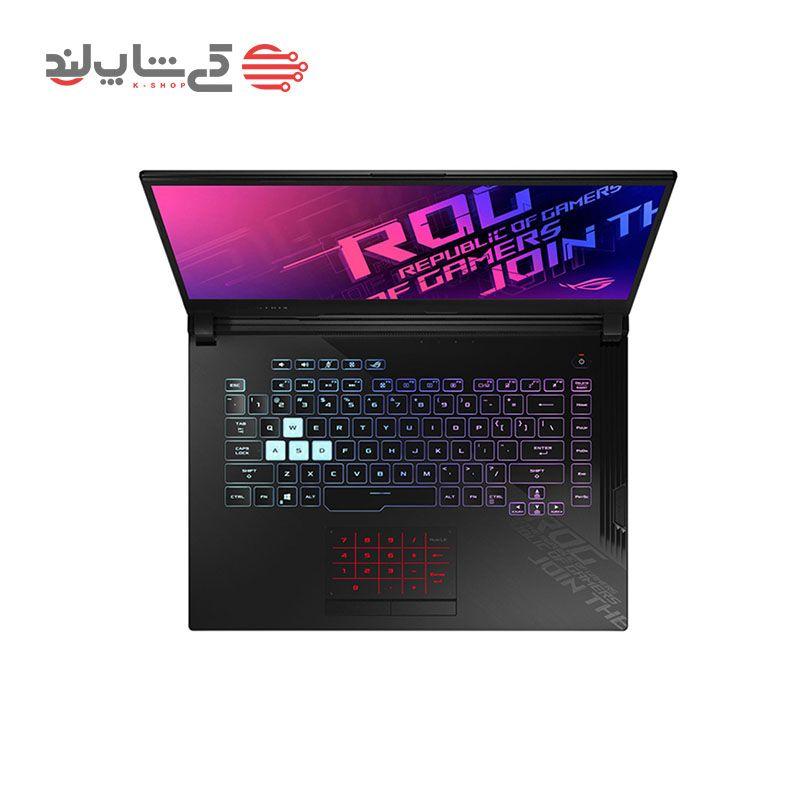نمای بالای لپ تاپ گیمینگ ایسوس مدل ASUS ROG Strix G512LI-3