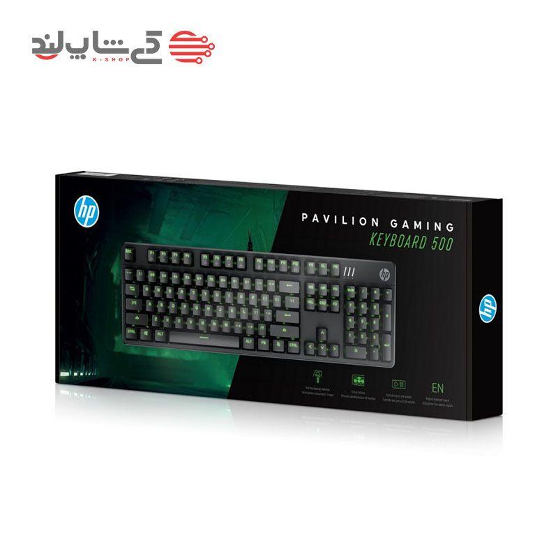 کیبورد اچ پی مدل HP Pavilion Gaming Keyboard 500-2