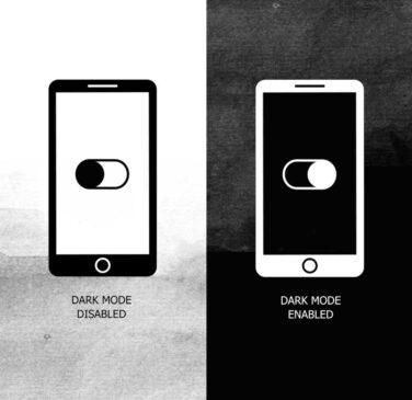 لایت مود و دارک مود صفحه نمایش موبایل