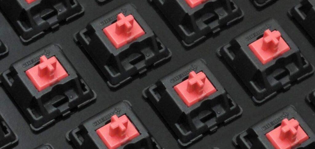 سوئیچ های کیبورد مکانیکی قرمز بی صدا cherry mx red