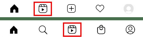 از کجا ریلز ها Reels ها را ببینیم؟ دو مدل منوی پایین در اینستاگرام
