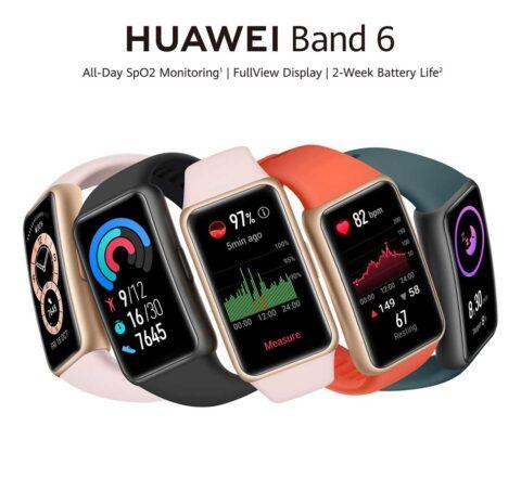 تنوع رنگی مچ بند هوشمند Huawei Band 6